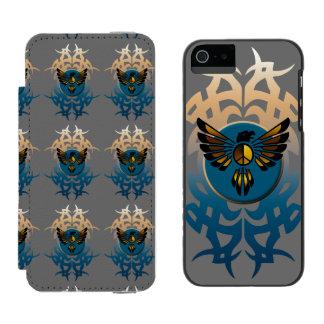 Eagle y símbolo funda billetera para iPhone 5 watson