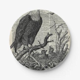 Eagle y su jerarquía en el diccionario reservan la plato de papel de 7 pulgadas