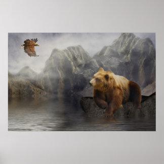 Eaglebear Mtn. -Eagle, Bear Poster