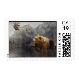 Eaglebear Mtn. -Eagle, Bear Stamp