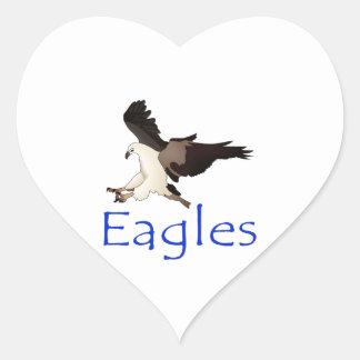 Eagles 2 heart sticker