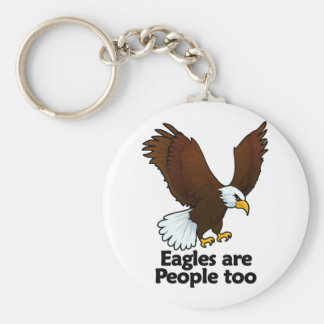Eagles are People too Basic Round Button Keychain