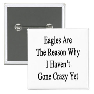Eagles Are The Reason Why I Haven't Gone Crazy Yet Pinback Button