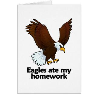 Eagles ate my homework card