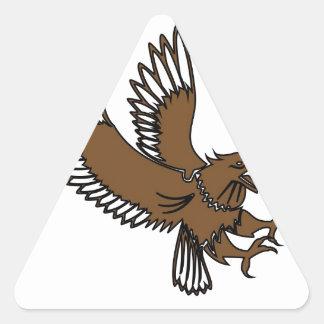 Eagles Attack Triangle Sticker