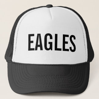 Eagles - Black/White Trucker Hat