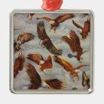 Eagles calvo en vuelo adorno de navidad