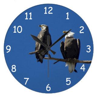 Eagles calvo reloj redondo grande