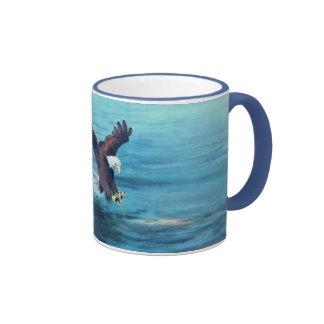 EAGLE'S CATCH by SHARON SHARPE Ringer Coffee Mug