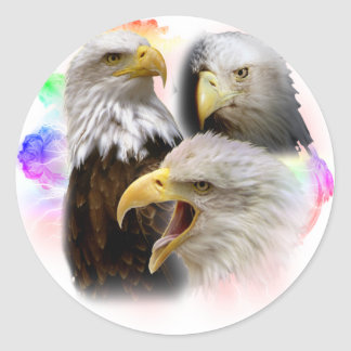 Eagles Classic Round Sticker