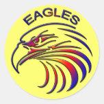 EAGLES CLASSIC ROUND STICKER
