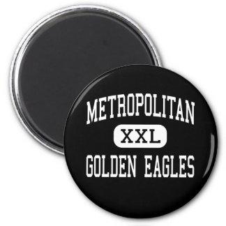 - Eagles de oro - alto metropolitano - Bronx Imán Redondo 5 Cm