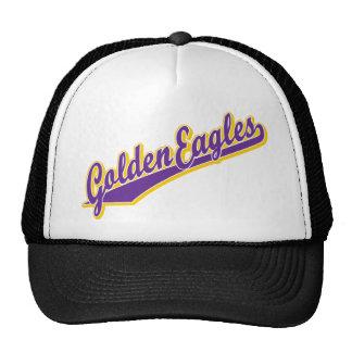 Eagles de oro en oro y púrpura gorro