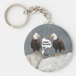 Eagles divertido y llavero básico del botón de la