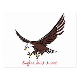 Eagles Don't Tweet Postcard