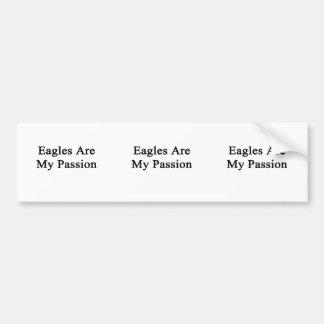 Eagles es mi pasión etiqueta de parachoque