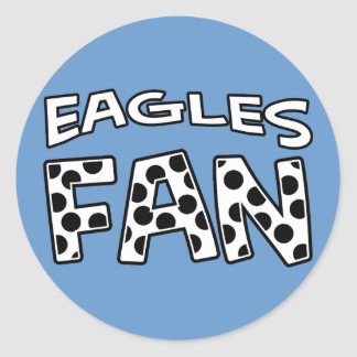 EAGLES FAN Polka Dots Classic Round Sticker