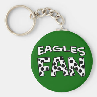EAGLES FAN Polka Dots Keychain