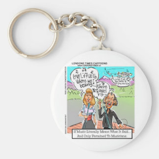 Eagles Fly? Funny Mugs Tees Cards Gifts & More Basic Round Button Keychain