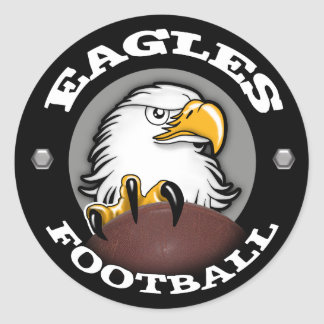 EAGLES FOOTBALL Claw Round Stickers