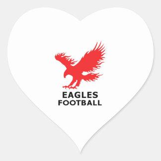 EAGLES FOOTBALL HEART STICKER