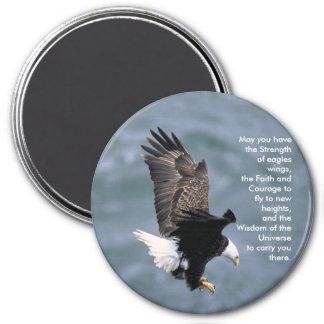 Eagles fuerte imán redondo 7 cm