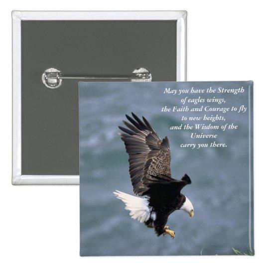 Eagles fuerte pin cuadrado