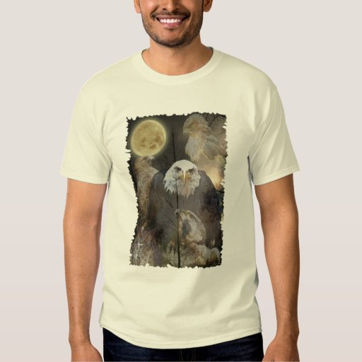 Eagles, Hawks, Falcons & Owls on a T-Shirt