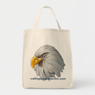 eagles head design tote bag