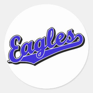 Eagles in Blue Classic Round Sticker