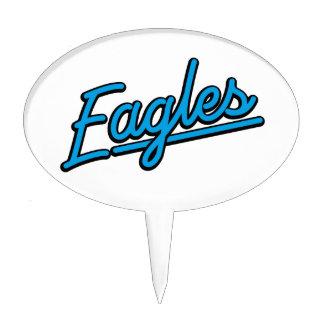 Eagles in cyan cake picks