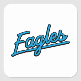 Eagles in cyan stickers