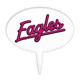 Eagles in magenta cake pick