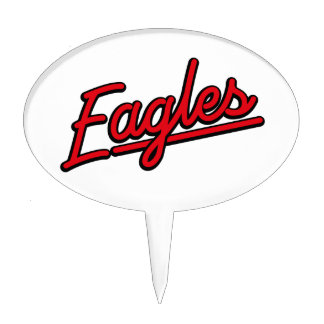 Eagles in red cake toppers