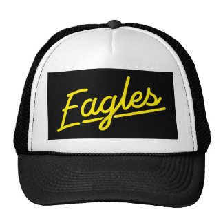 Eagles in yellow trucker hat