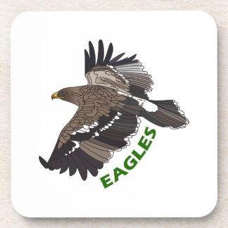 EAGLES MASCOT BEVERAGE COASTERS