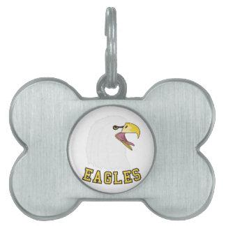 Eagles Mascot Pet Tag