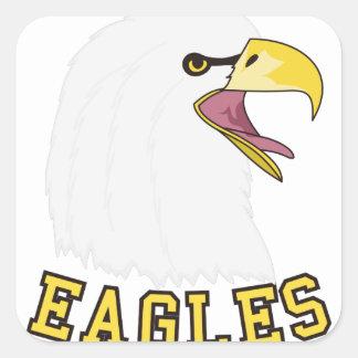 Eagles Mascot Square Sticker
