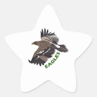 EAGLES MASCOT STAR STICKER