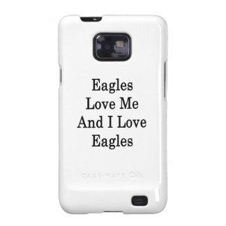 Eagles me ama y amo a Eagles Samsung Galaxy S2 Fundas