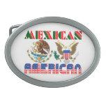 Eagles mexicano-americano hebillas cinturón ovales