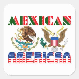 Eagles mexicano-americano calcomania cuadradas personalizada