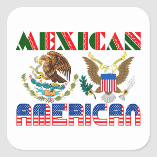 Eagles mexicano-americano pegatina cuadrada