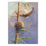 EAGLE'S NEST by SHARON SHARPE Greeting Card