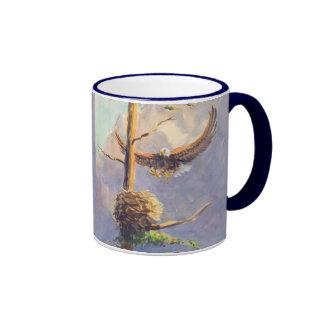 EAGLE'S NEST by SHARON SHARPE Ringer Mug