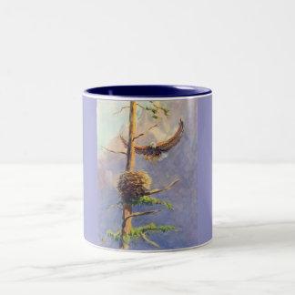 EAGLE'S NEST by SHARON SHARPE Two-Tone Coffee Mug