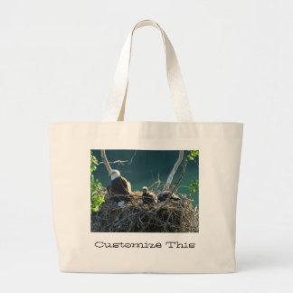 Eagles' Nest; Customizable Jumbo Tote Bag