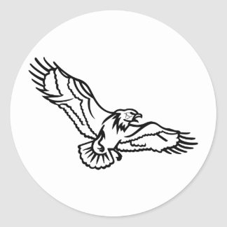 Eagles Outline Classic Round Sticker