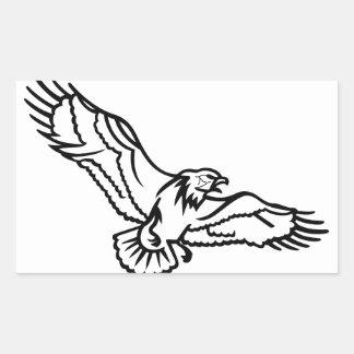 Eagles Outline Rectangular Sticker
