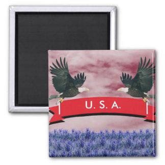 Eagles patriótico, los E.E.U.U. Imán Cuadrado